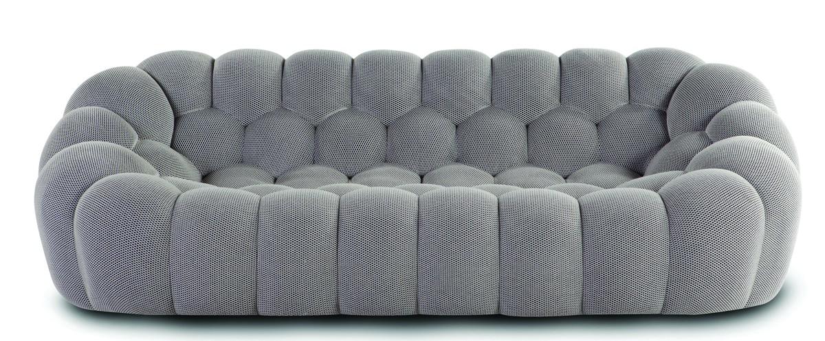 ספה יוקרתית Bubble מבד אפור איכותי