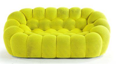 ספה יוקרתית Bubble מבד צהוב איכותי