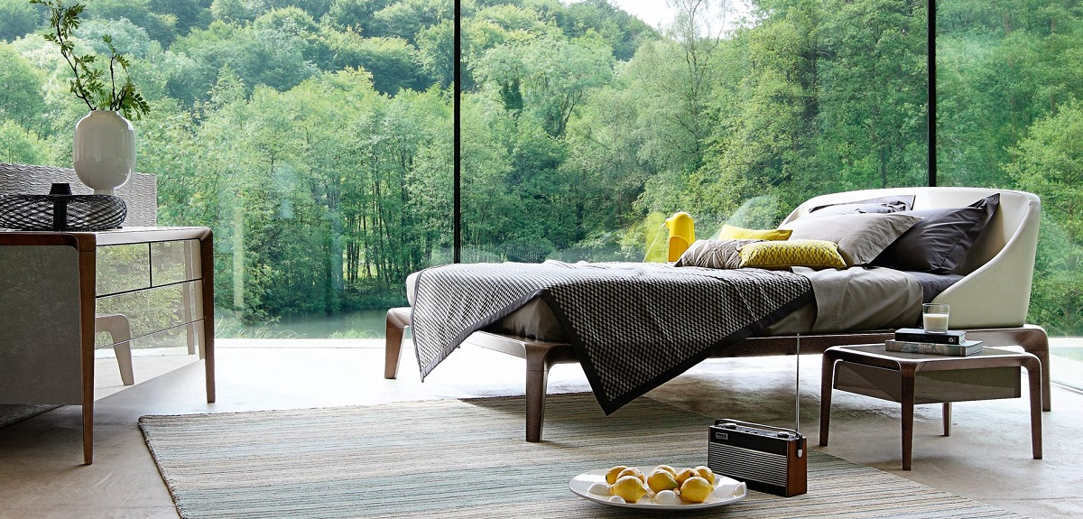 מיטה יוקרתית דגם BRIO מבית המותג ROCHE BOBOIS PARIS